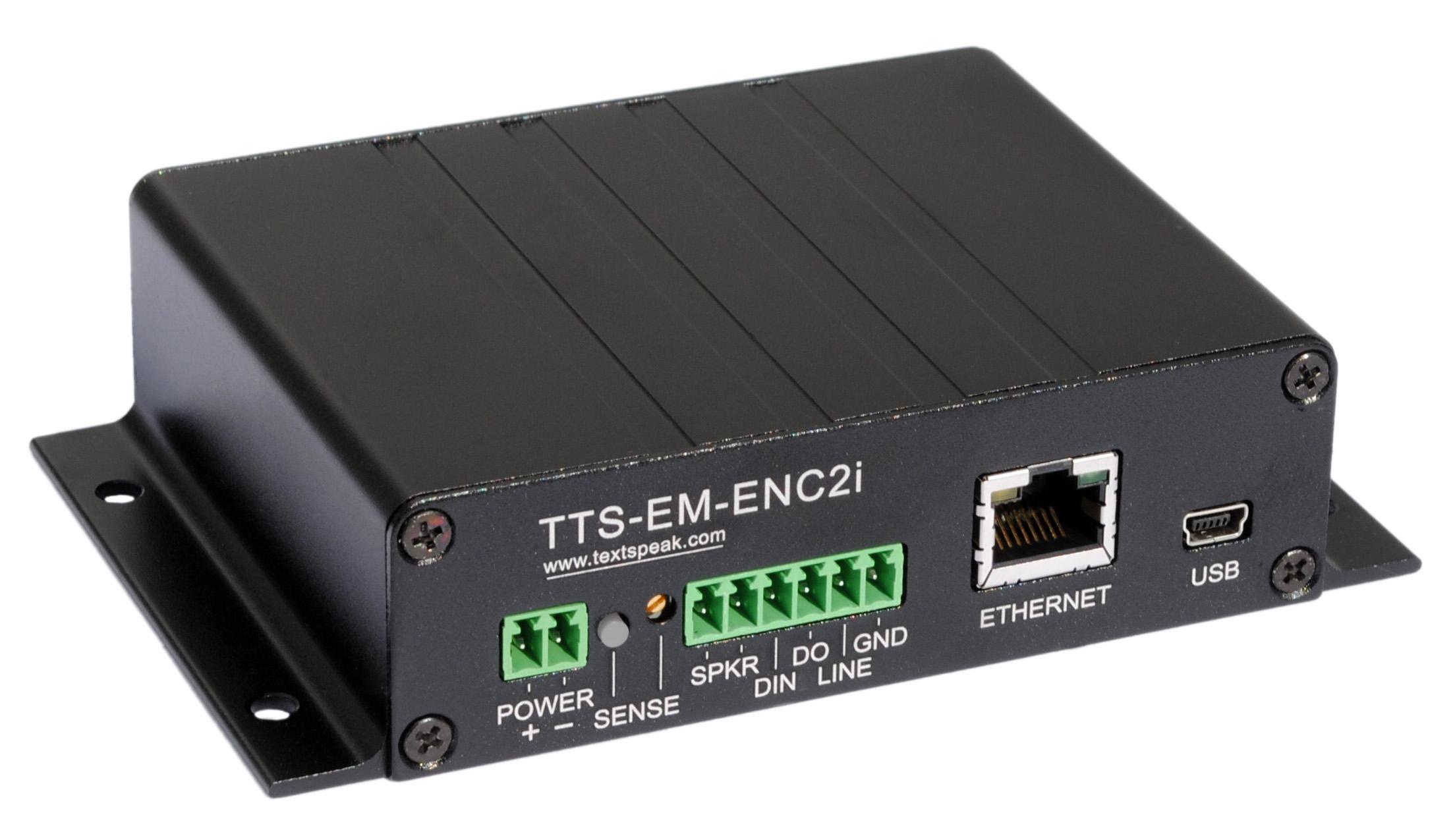TextSpeak Device Ethernet Amplifier TTS-EN-E