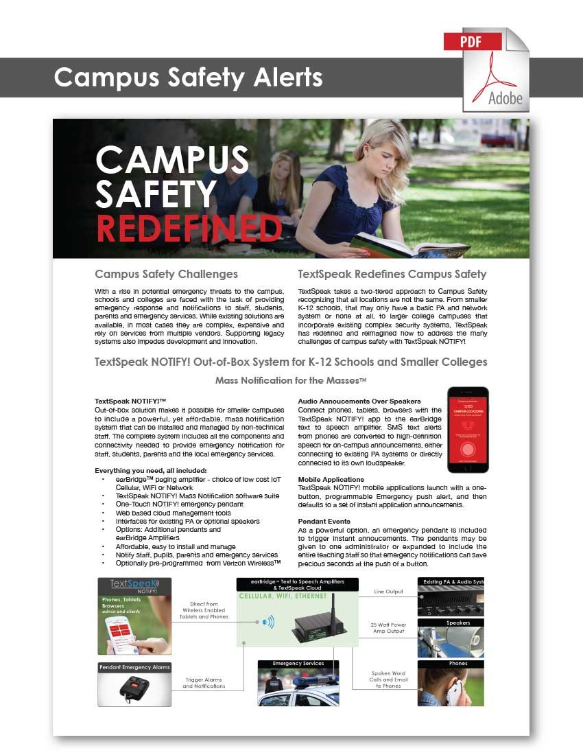 TextSpeak Document Campus Safety
