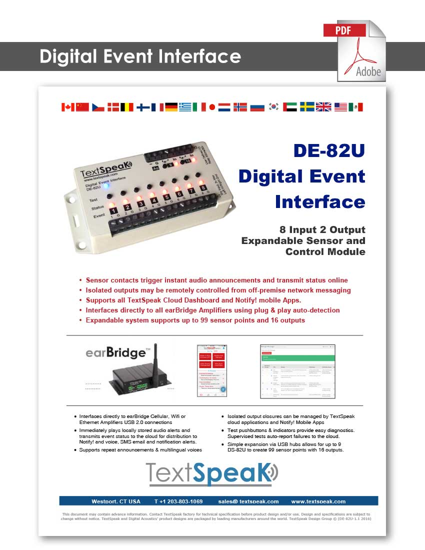 TextSpeak Document Digital Event Interface