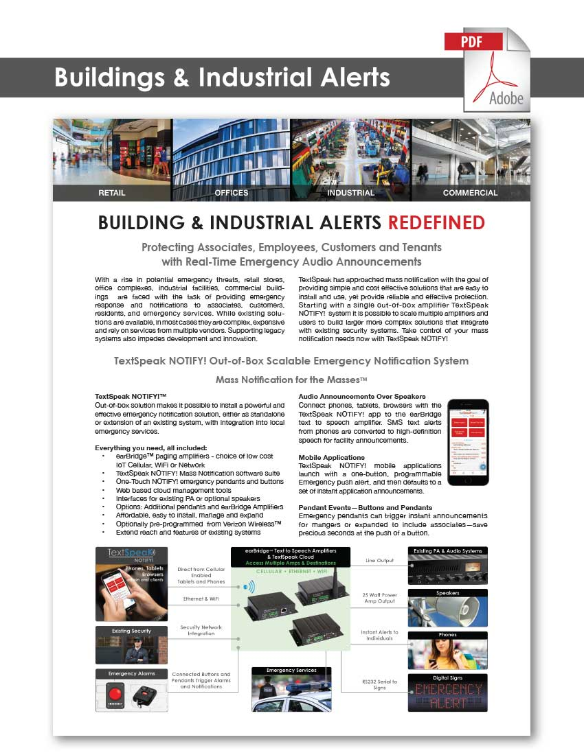 TextSpeak Document Buildings & Industrial