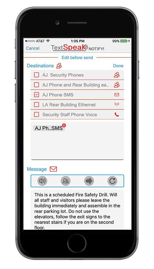 TextSpeak NOTIFY App