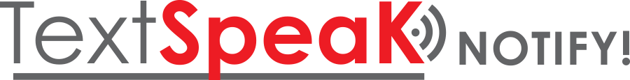 TextSpeak NOTIFY Logo Gray