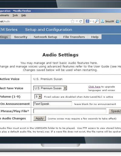 TextSpeak Amp Laptop Browser Setup