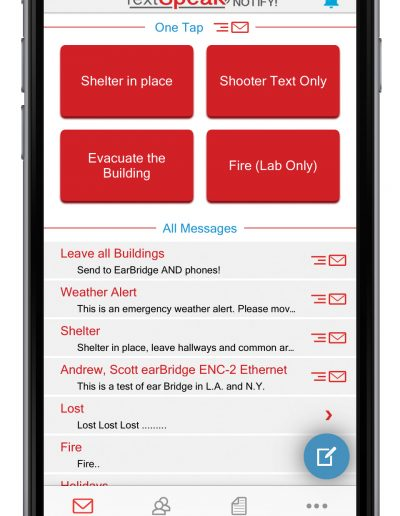 TextSpeak Notify! iPhone Message Screen