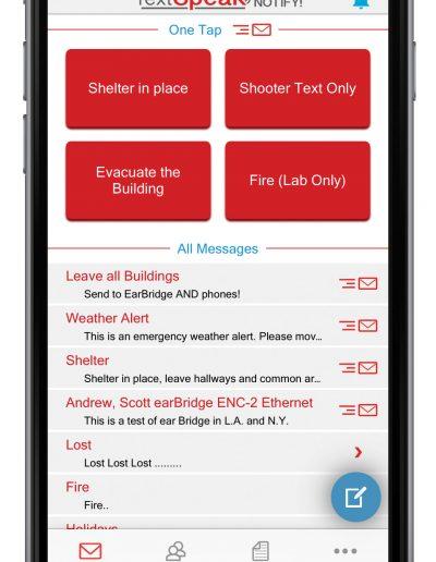 TextSpeak Notify! iPhone Message Screen