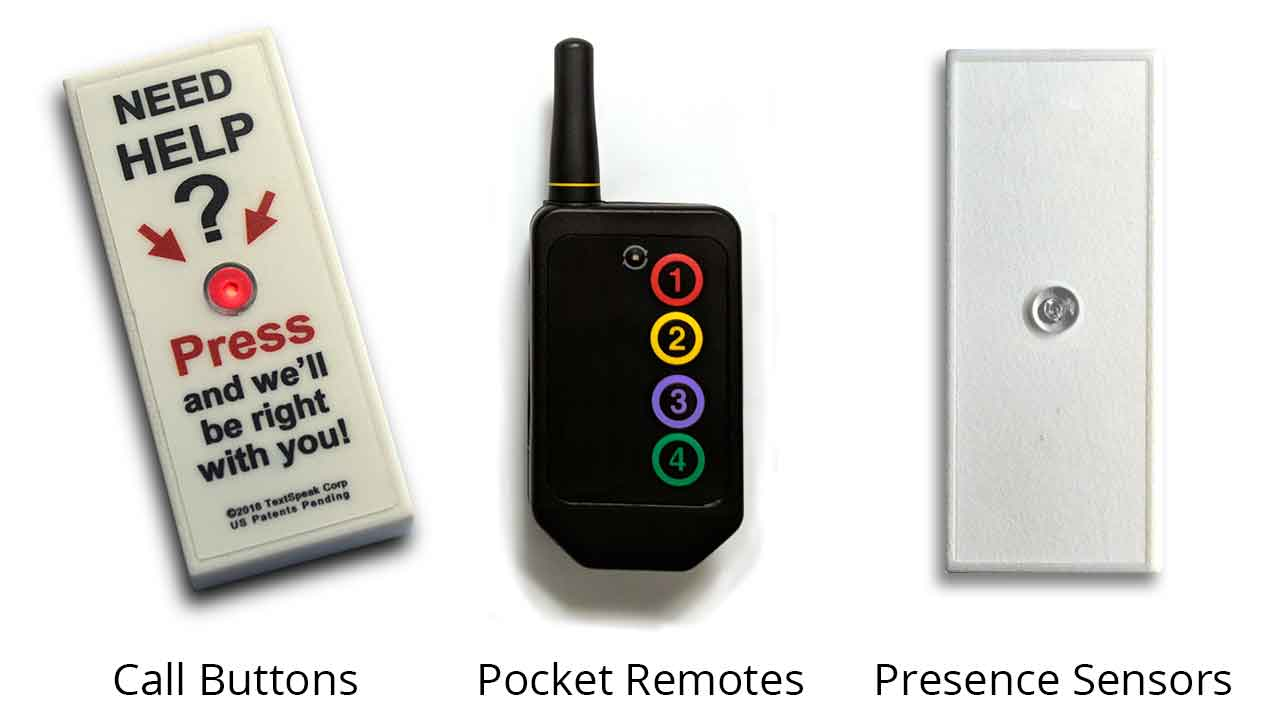 Call Button, Pocket Remote, Presence Sensors